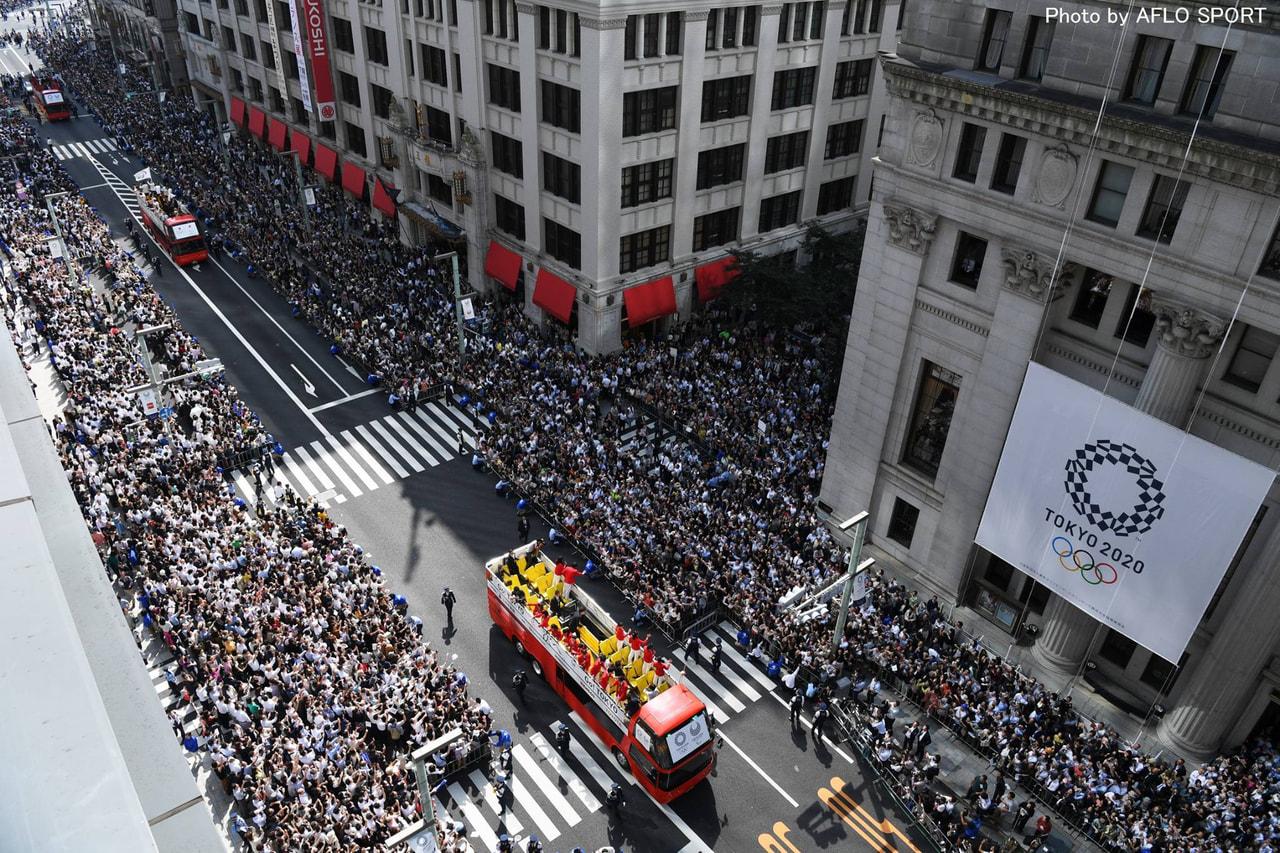 日本代表選手団合同パレード
