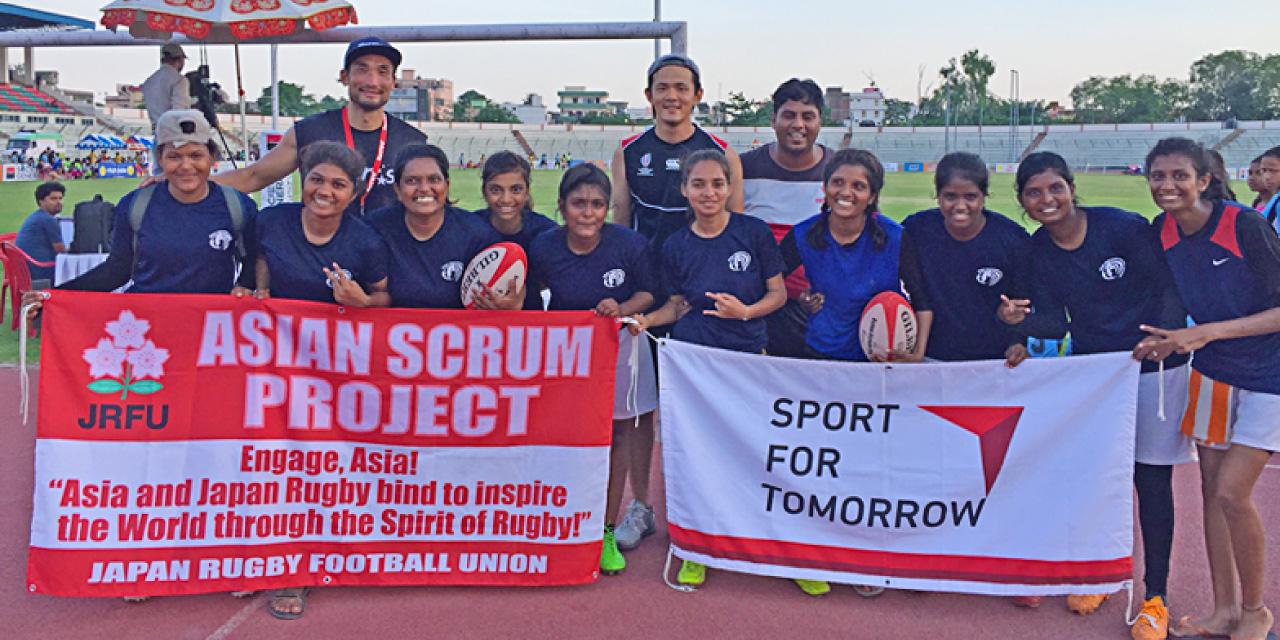 JSC-JRFU連携ラグビー国際貢献プロジェクト(インド)