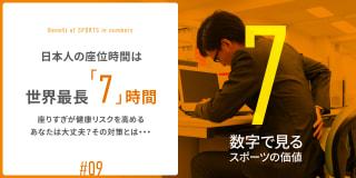 日本人の座位時間は世界最長「7」時間!座りすぎが健康リスクを高める あなたは大丈夫?その対策とは・・・