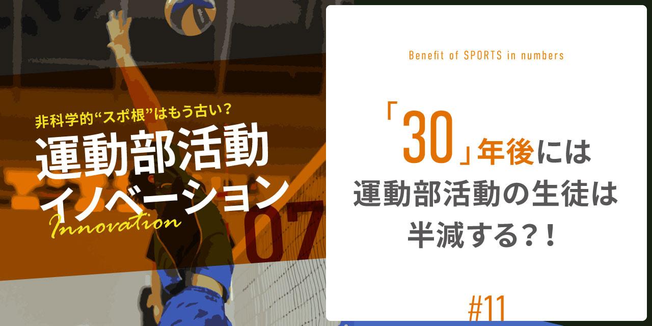 『30』年後には運動部活動の生徒は半減する?!